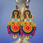 Kolczyki sutasz,kolorowe kolczyki,radosne kolory,letnie