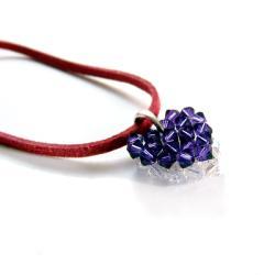 delikatny,pleciony,kryształowy - Naszyjniki - Biżuteria