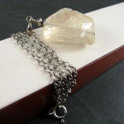 surowy,przejrzysty - Naszyjniki - Biżuteria
