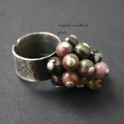 srebro,pierscionek,turmalin,fado, - Pierścionki - Biżuteria