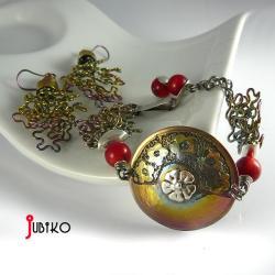 tytanowe,kolczyki,lekkie,anodowane,kwiaty - Komplety - Biżuteria