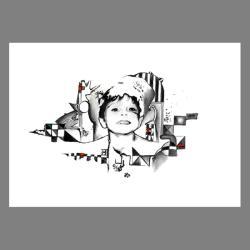 dziecko,op-art,grafika,wnętrze,na ścianę,rysunek, - Ilustracje, rysunki, fotografia - Wyposażenie wnętrz