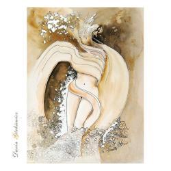grafika,na ścianę,anioł,anioły,kobieta,obraz - Ilustracje, rysunki, fotografia - Wyposażenie wnętrz