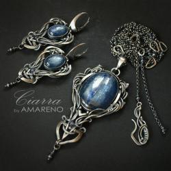 ekskluzywny,komplet,wire-wrapping,baśniowy - Komplety - Biżuteria