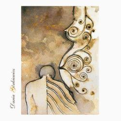 kobieta,anioł,na ścianę,wnętrze,grafika - Ilustracje, rysunki, fotografia - Wyposażenie wnętrz