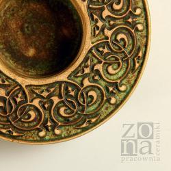 lampion,świecznik,ceramika,ornament - Ceramika i szkło - Wyposażenie wnętrz