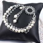 Bransoletki Srebrna bransoletka z perłami