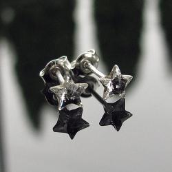 drobne kolczyki Swarovski Crystal gwiazdki - Kolczyki - Biżuteria