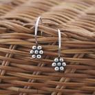 Kolczyki delikatne,małe,krótkie,srebrne,bali,kwiaty