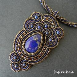 elegancki,baśniowy,orientalny,haft koralikowy - Wisiory - Biżuteria