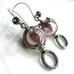 kolczyki,efektowne,różowe,misterne,wyraziste, - Kolczyki - Biżuteria