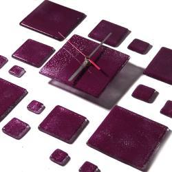 szklany zegar szkło design art prezent - Ceramika i szkło - Wyposażenie wnętrz