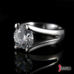 tytanowy,lekki,klasyczny,wytrzymały,cyrkonia - Pierścionki - Biżuteria