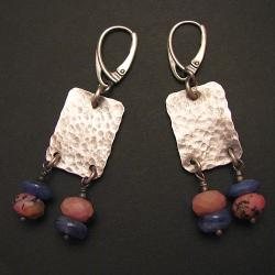 kolczyki,oksydowane,młotkowane,minimalistyczne - Kolczyki - Biżuteria