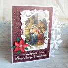 Kartki okolicznościowe święta,życzenia,śnieg,gwiazdka,szopka
