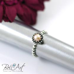 delikatny,romantyczny,retro,perła - Pierścionki - Biżuteria