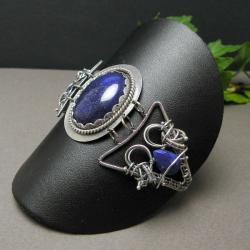 bransoletka,misterna,wrapping,vintage,niebieska, - Bransoletki - Biżuteria