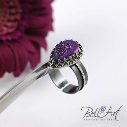 pierścionek,elegancki,agat, - Pierścionki - Biżuteria