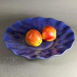 patera niebieska,na owoce,ceramika,talerz - Ceramika i szkło - Wyposażenie wnętrz