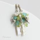 Kolczyki biel,błękit,perłowe kolczyki,perły,wiosenne,wiosna