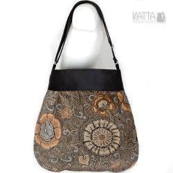 gothic bag,czarna torba,z aksamitu,dla czarownicy - Na ramię - Torebki
