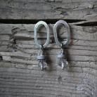 Kolczyki kolczyki srebro metaloplastyka