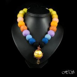 filcowe kule z ceramiką - Naszyjniki - Biżuteria