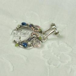srebro,wire-wrapping,kolczyki,wiosna - Kolczyki - Biżuteria