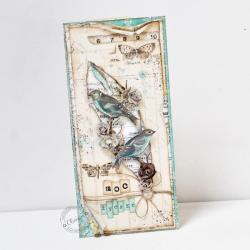 ptaki,imieniny,urodziny,życzenia - Kartki okolicznościowe - Akcesoria