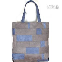 patchwork,torba z łatek,shopper bag,szachownica - Na ramię - Torebki