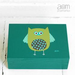 anamarko,pudełko,sowa - Pudełka - Wyposażenie wnętrz