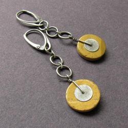 surowe,proste,koła, - Kolczyki - Biżuteria
