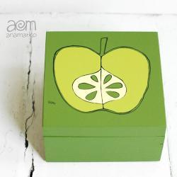 anamarko,pudełko,jabłko - Pudełka - Wyposażenie wnętrz