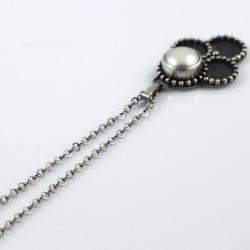 wisior z perłą,srebrny - Wisiory - Biżuteria