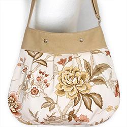 flower bag,kwiatowa,kwiaty,jasna,na skos - Na ramię - Torebki
