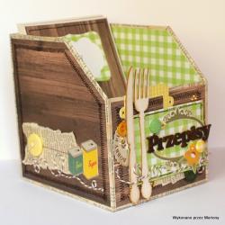 pudełko,pudełko na przepisy, - Pudełka - Wyposażenie wnętrz