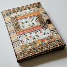 Notesy kalendarz ksiażkowy 2012,patchwork,kwiaty,