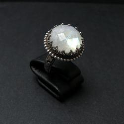 pierścionek,romantyczny,vintage,srebro,oksydowany - Pierścionki - Biżuteria