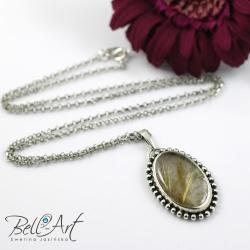 wisior,kwarc z rutylem,elegancki,nietuzinkowy - Wisiory - Biżuteria