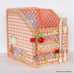 pudełko na przepisy,pudełko - Pudełka - Wyposażenie wnętrz