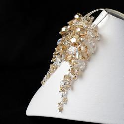 efektowne bogate kolczyki z kryształami Swarovski - Kolczyki - Biżuteria