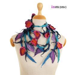 naszyjnik,zamotka,na szyję,filc,filcowy - Naszyjniki - Biżuteria