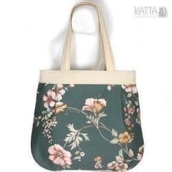 flower bag,w kwiaty,kwiatowa,jasna,na lato - Na ramię - Torebki