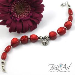 koral,czerwona,elegancka, - Bransoletki - Biżuteria