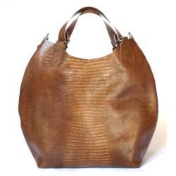 torba,torebka,skórzana,bezowa,kamel,skóra - Na ramię - Torebki