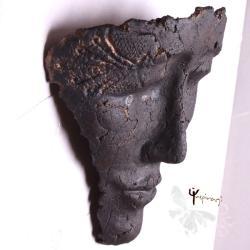 maska,unikat,na ścianę,rzeźba,ceramika - Ceramika i szkło - Wyposażenie wnętrz