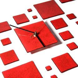 oryginalny zegar czerwony szkło design prezent - Ceramika i szkło - Wyposażenie wnętrz