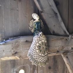 anioł,figurka,ceramika - Ceramika i szkło - Wyposażenie wnętrz