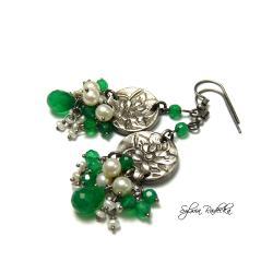 Kolczyki z zielonym Onyksem - Kolczyki - Biżuteria