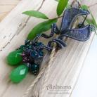 Kolczyki wiosenne,fantazyjne kolczyki,zieleń,alabama